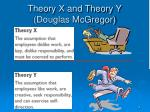 theory x and theory y douglas mcgregor