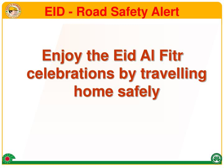 Eid road safety alert