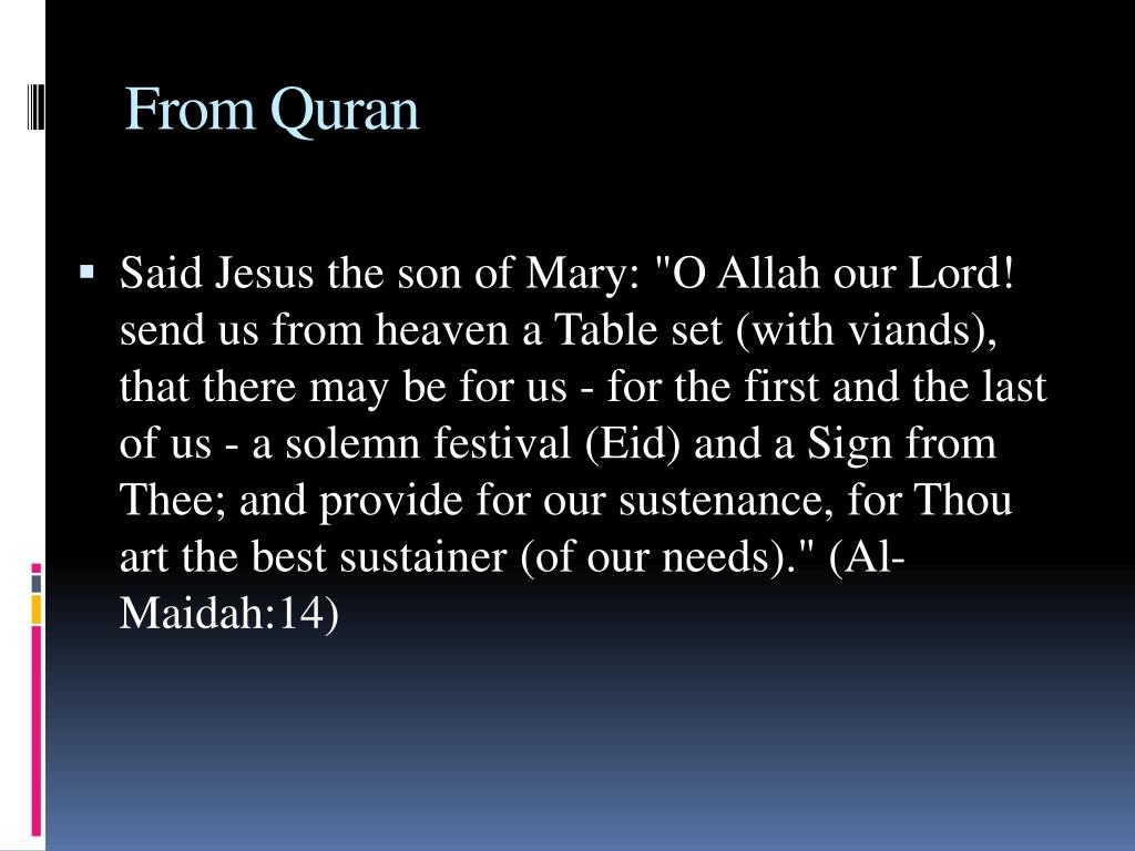 From Quran