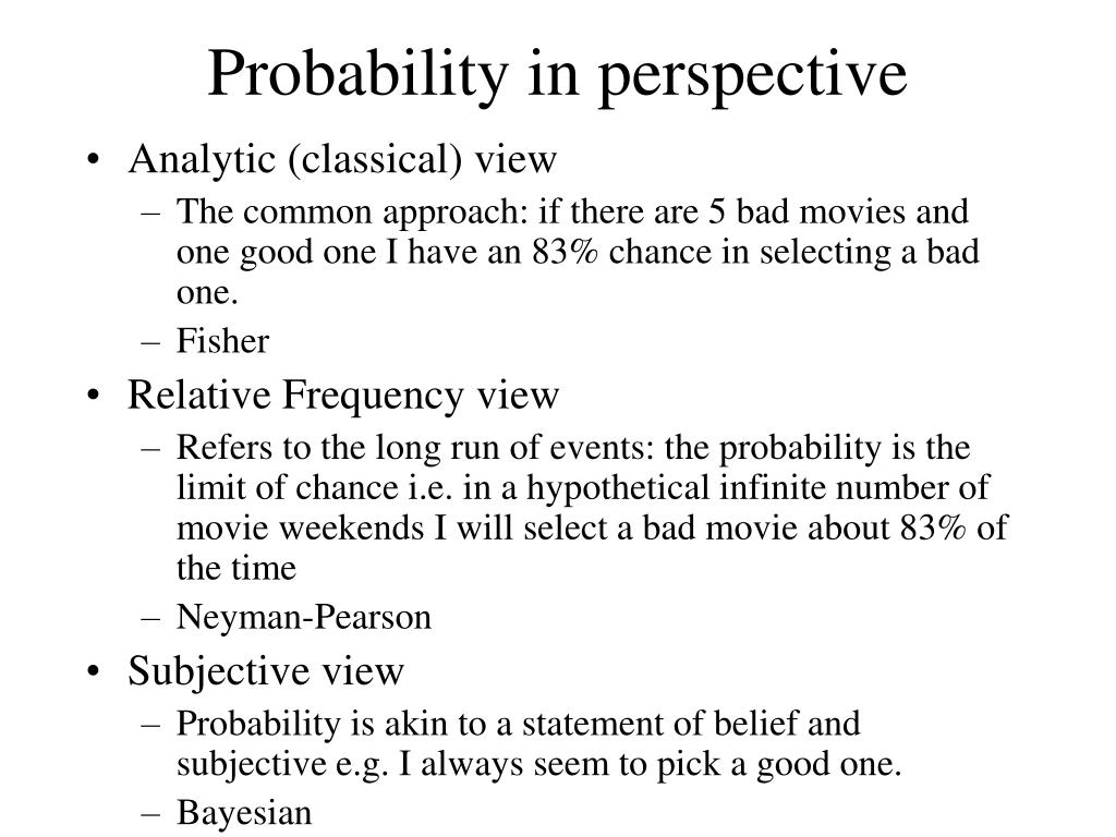 Probability in perspective