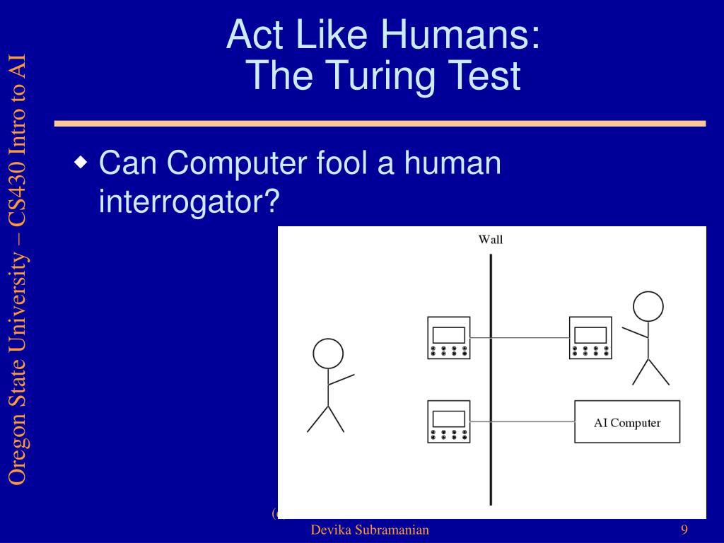 Act Like Humans: