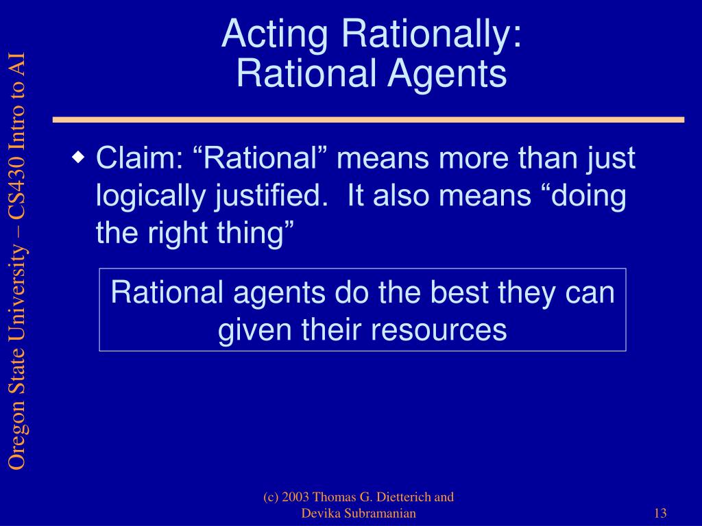 Acting Rationally: