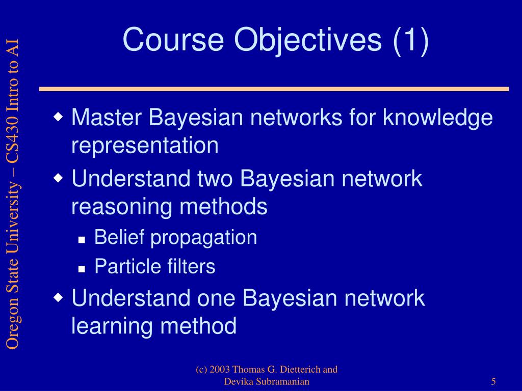 Course Objectives (1)