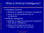 what is artificial intelligence