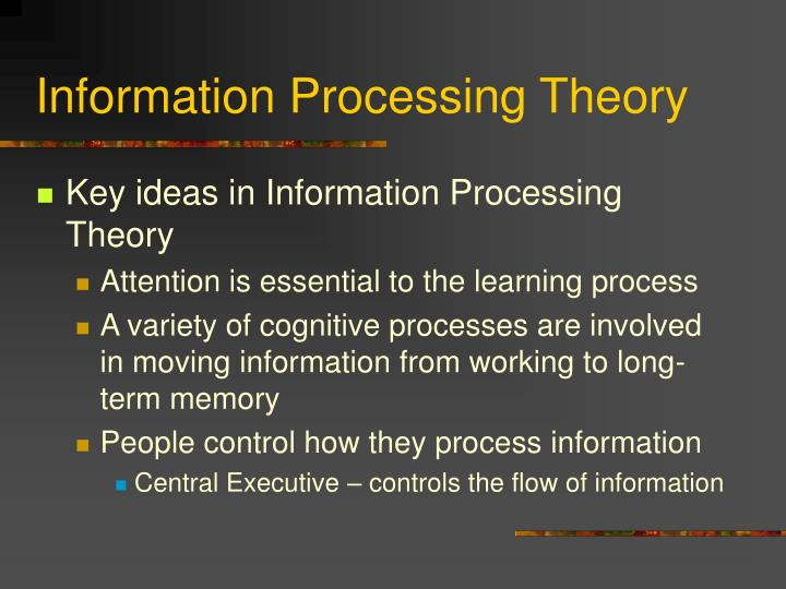 Information processing theory3