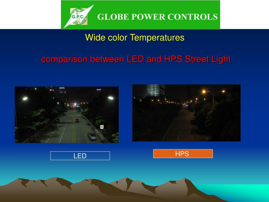 Wide color Temperatures