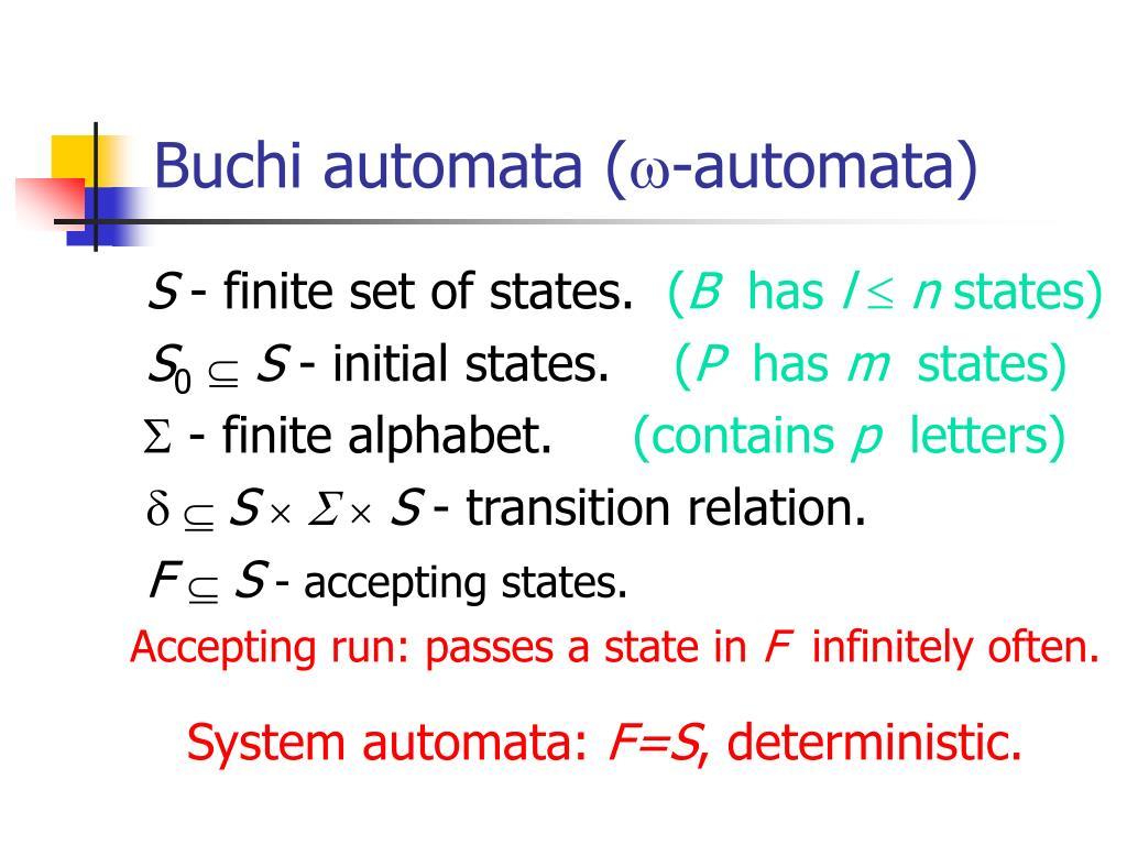 Buchi automata (