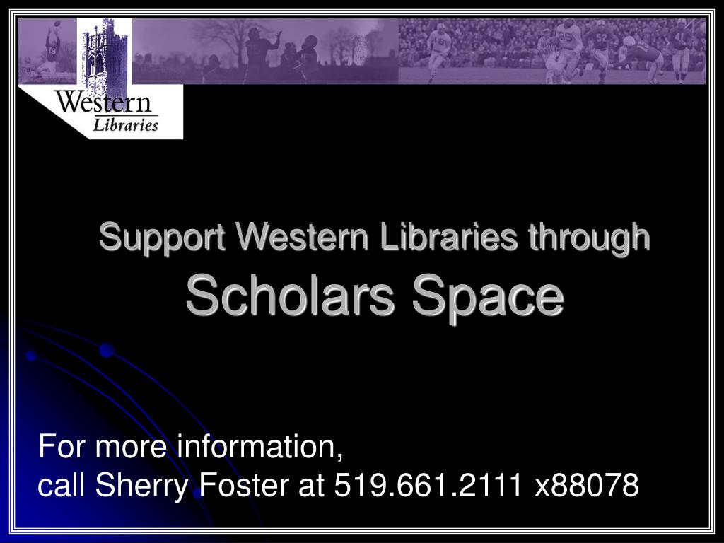 Support Western Libraries through