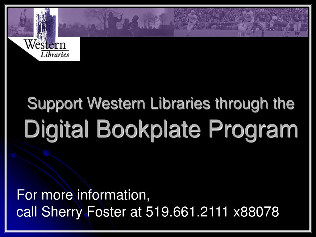 Support Western Libraries through the