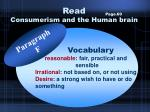 read consumerism and the human brain17