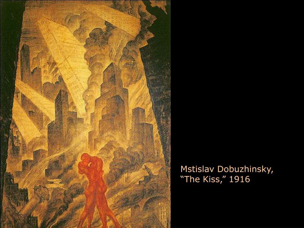 "Mstislav Dobuzhinsky, ""The Kiss,"" 1916"