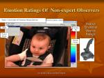emotion ratings of non expert observers