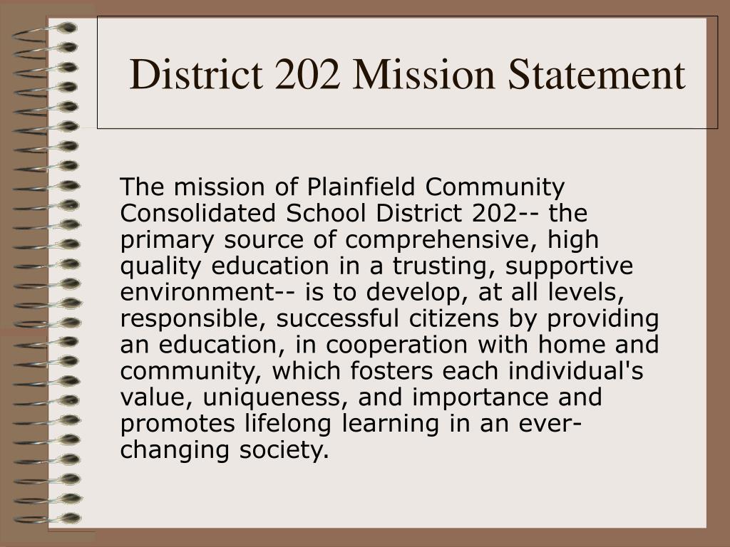 District 202 Mission Statement