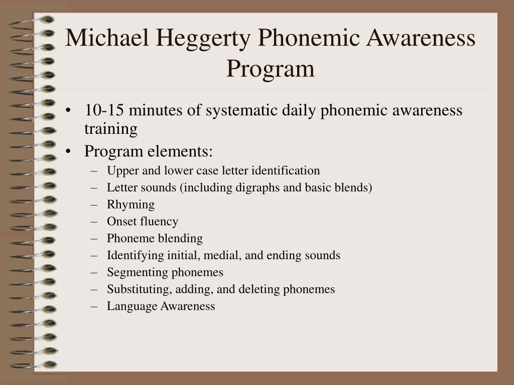 Michael Heggerty Phonemic Awareness Program
