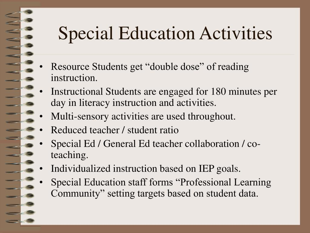 Special Education Activities