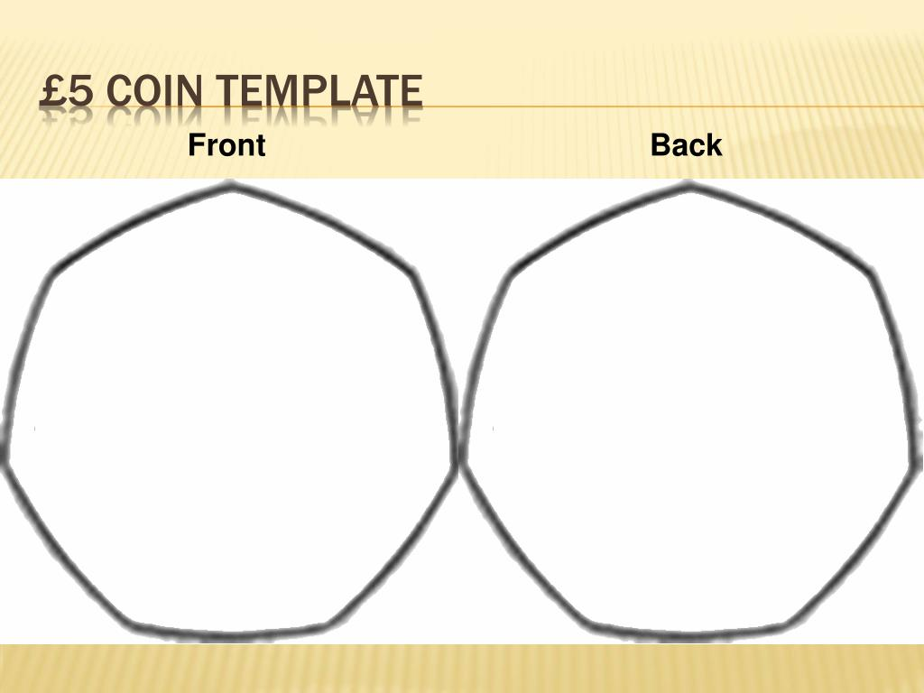 £5 coin template