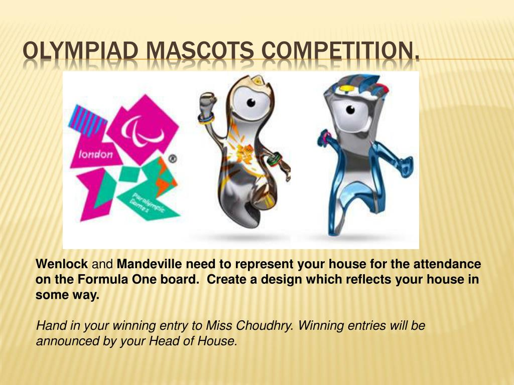 Olympiad Mascots Competition.