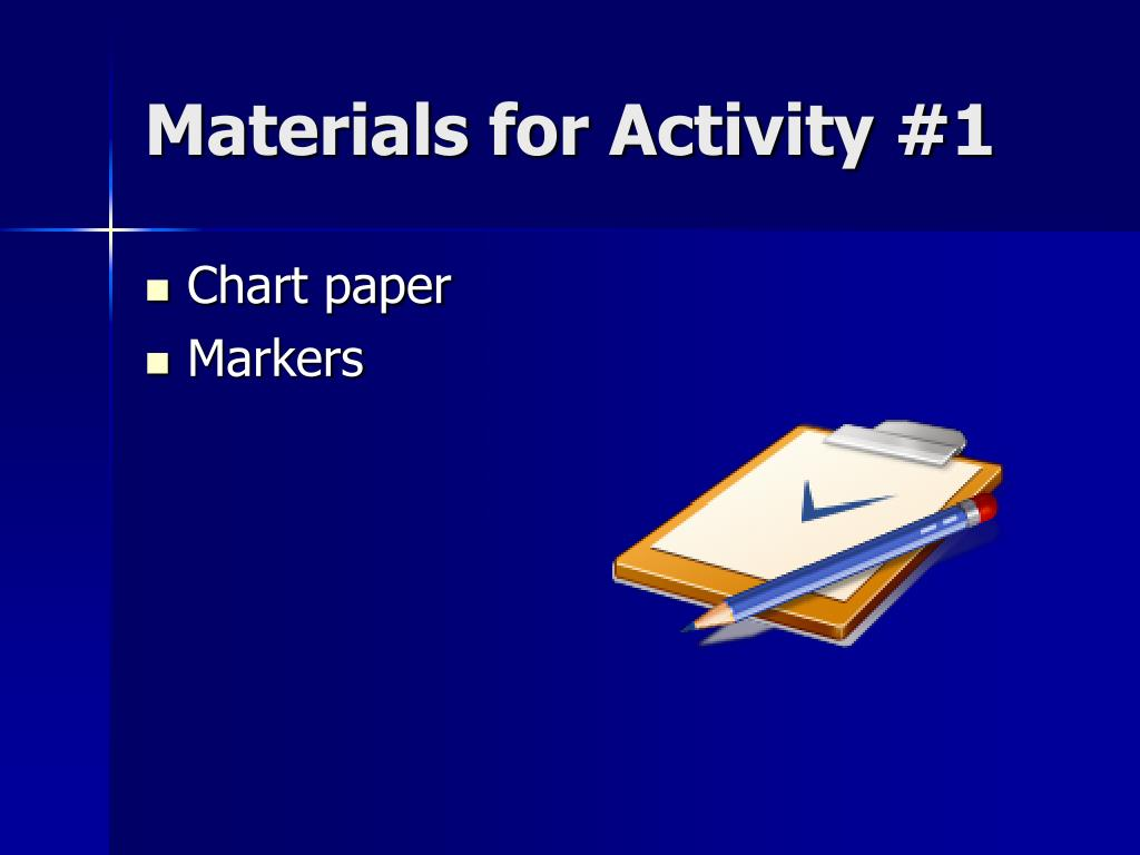 Materials for Activity #1