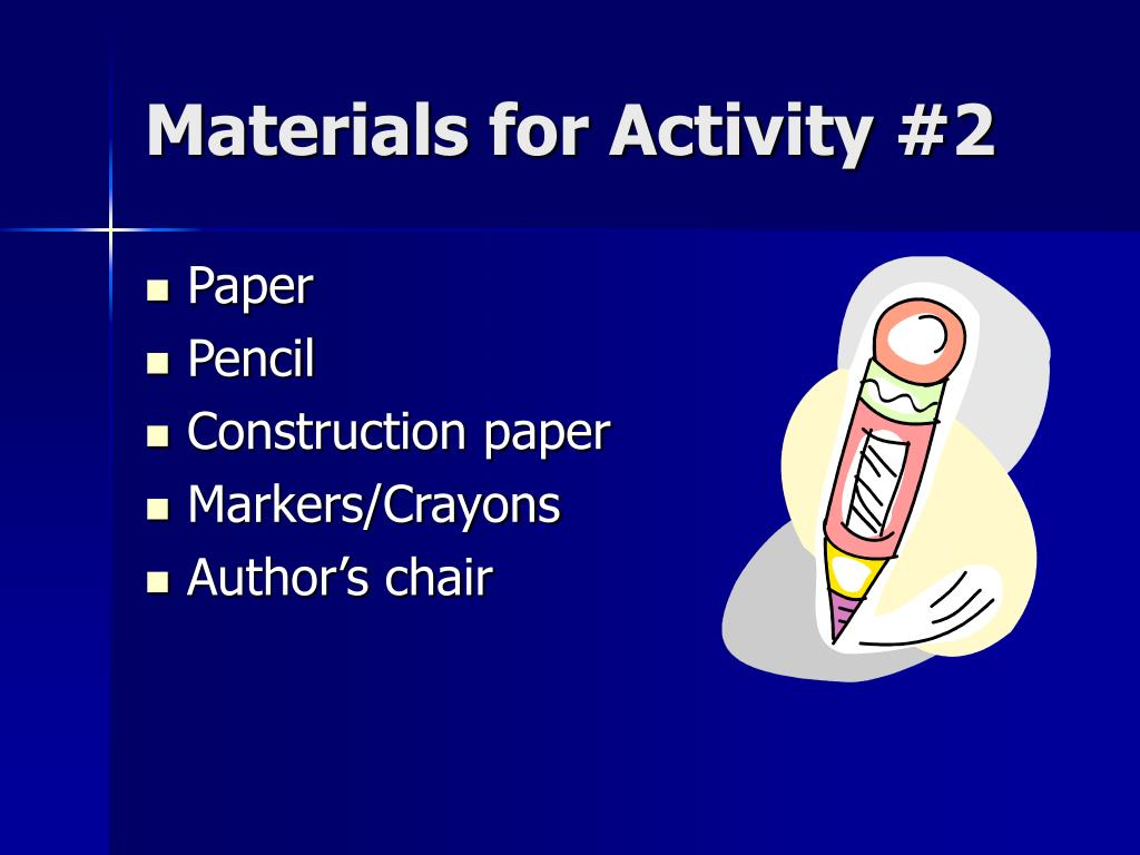 Materials for Activity #2