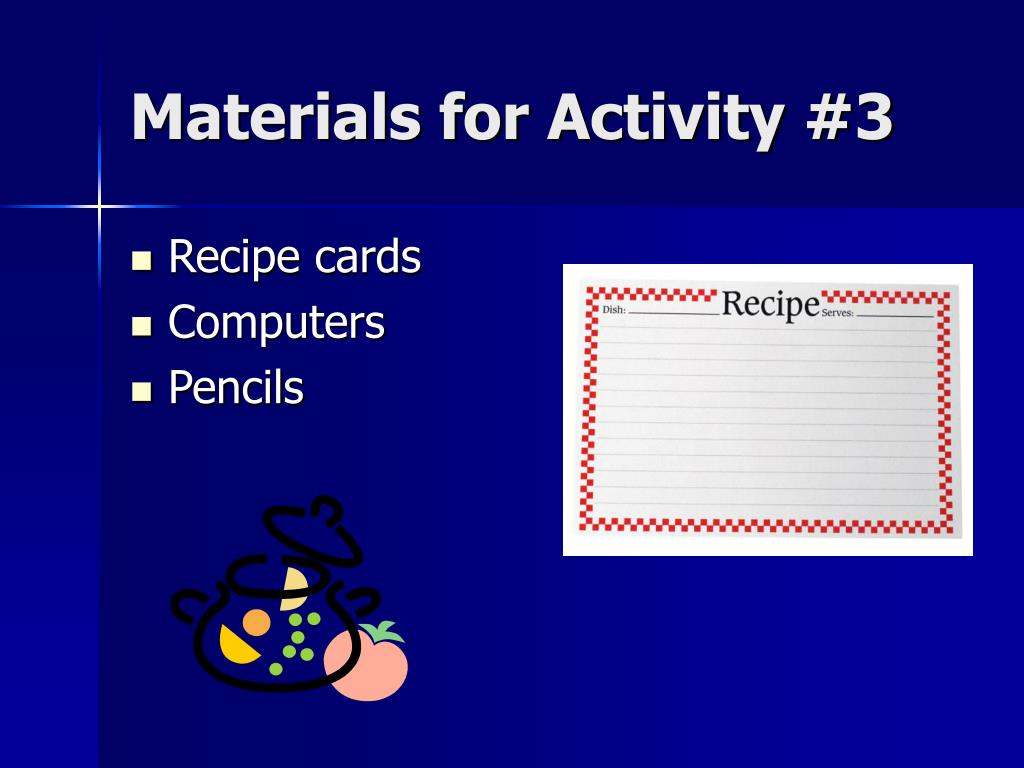 Materials for Activity #3