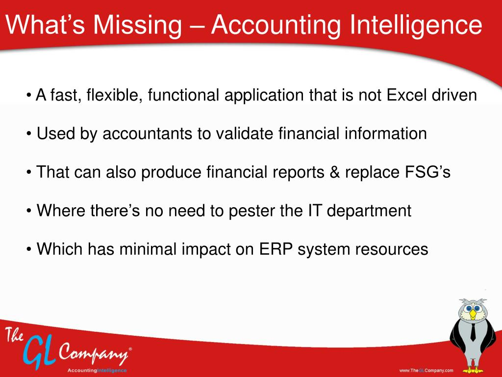 What's Missing – Accounting Intelligence