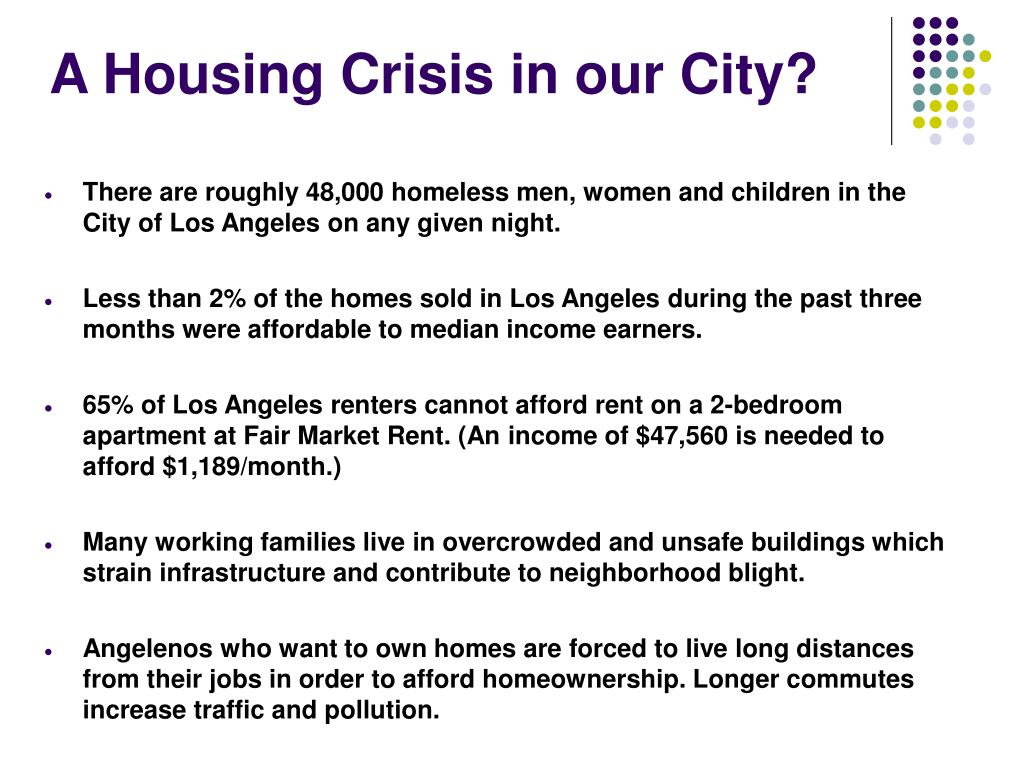 A Housing Crisis in our City?