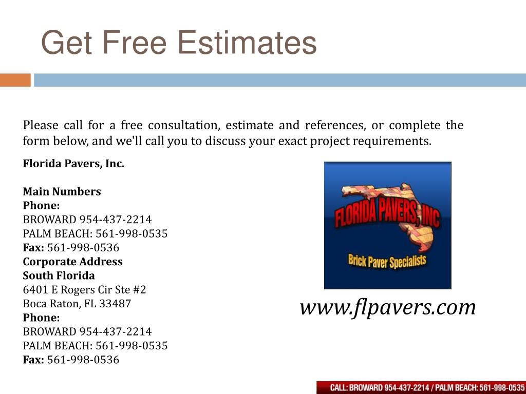 Get Free Estimates