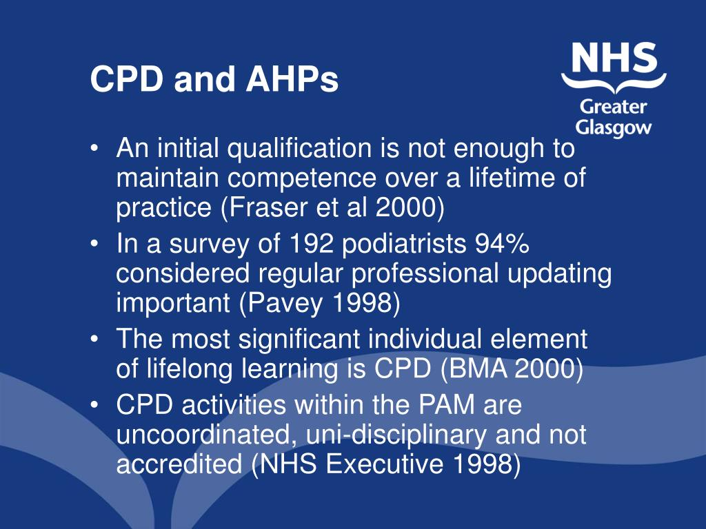 CPD and AHPs