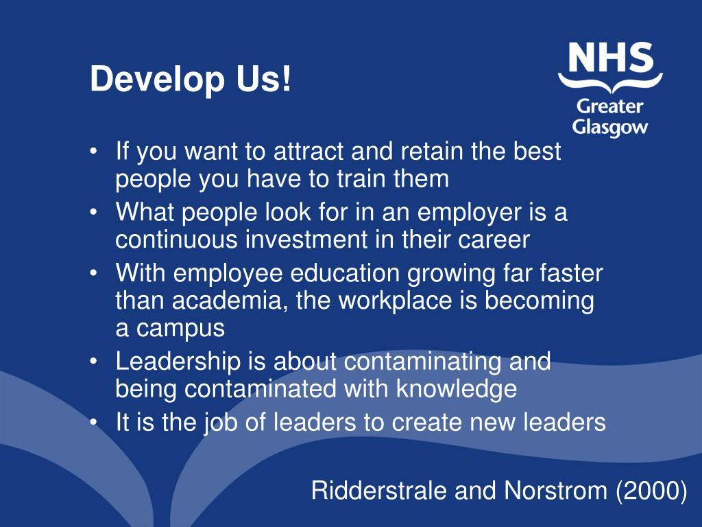 Develop Us!