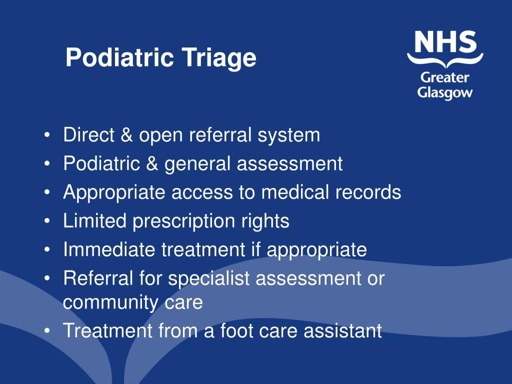 Podiatric Triage