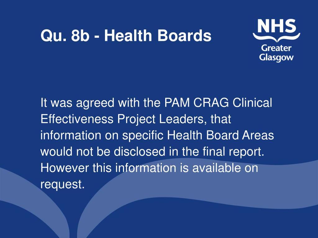 Qu. 8b - Health Boards