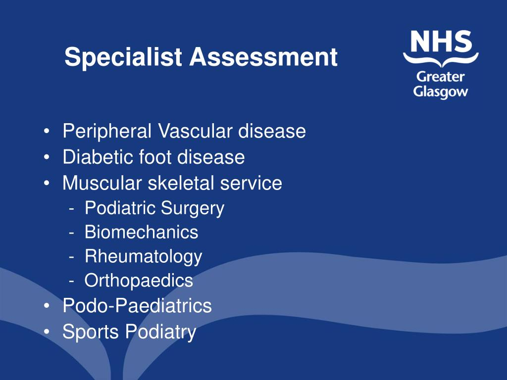 Specialist Assessment