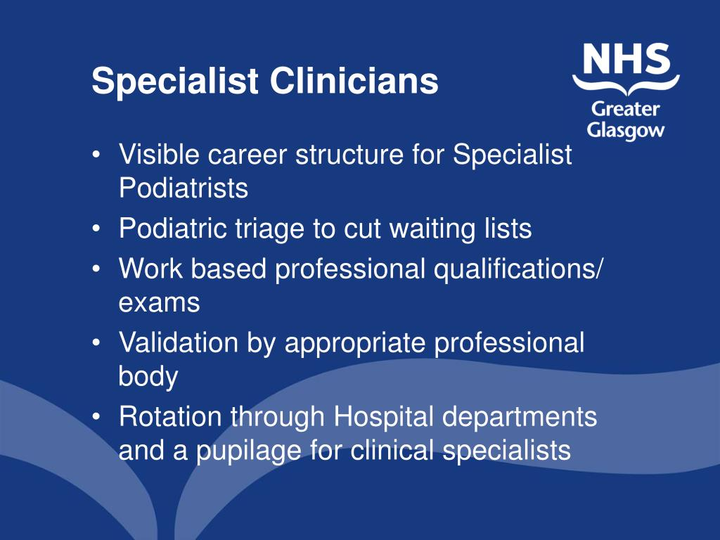 Specialist Clinicians