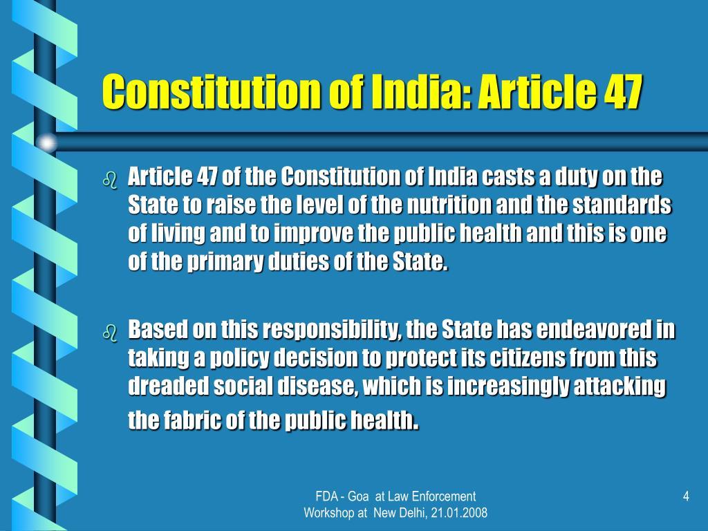 Constitution of India: Article 47