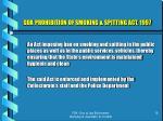 goa prohibition of smoking spitting act 1997