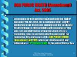 goa public health amendment act 2005