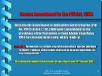 recent amendment to the pfa act 1954