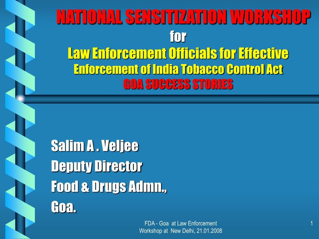NATIONAL SENSITIZATION WORKSHOP