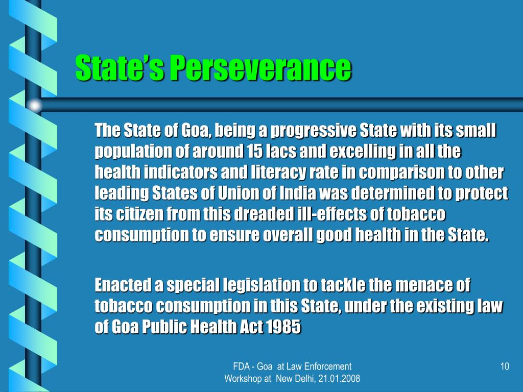 State's Perseverance