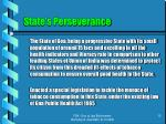state s perseverance
