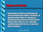 tobacco ill effects