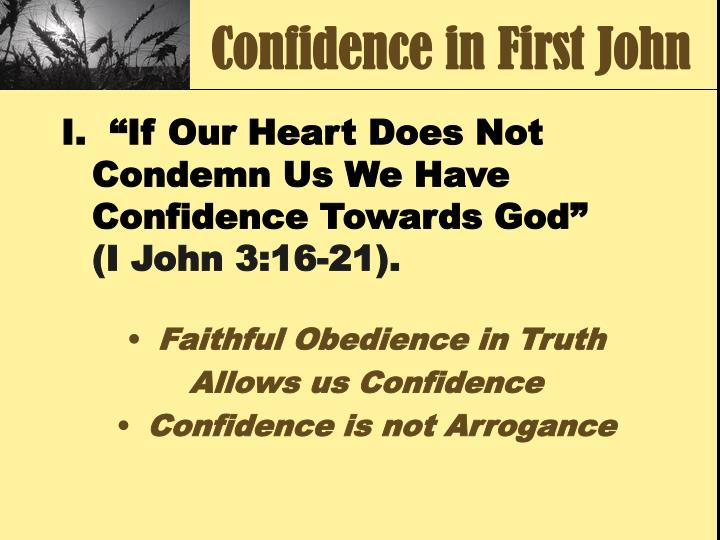 Confidence in first john