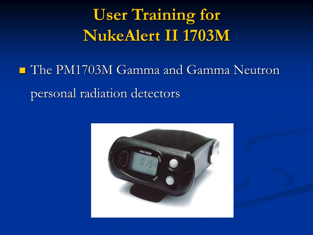 User Training for