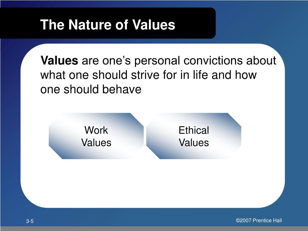 The Nature of Values