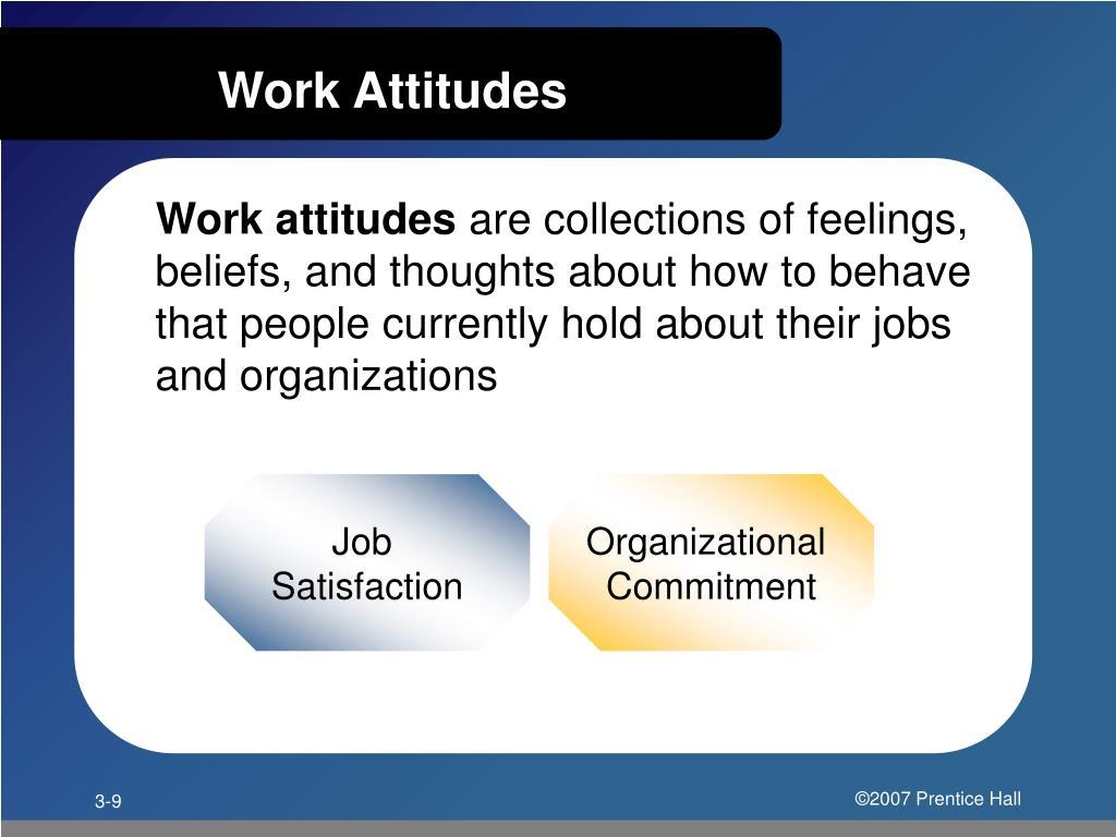 Work Attitudes