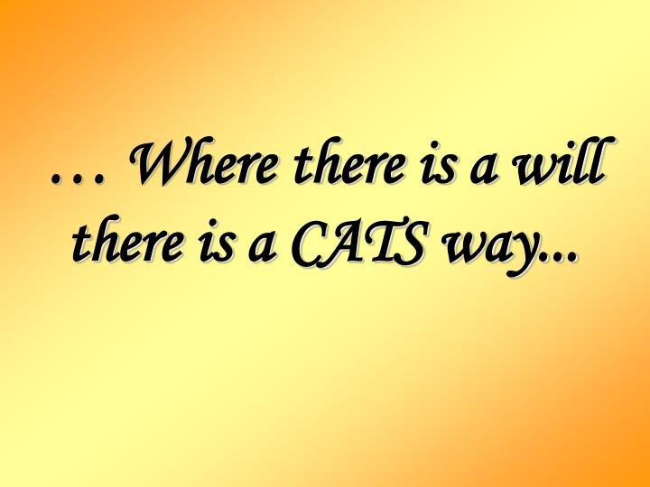 Where there is a will there is a cats way