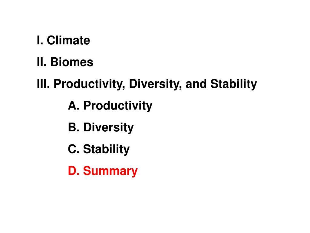I. Climate