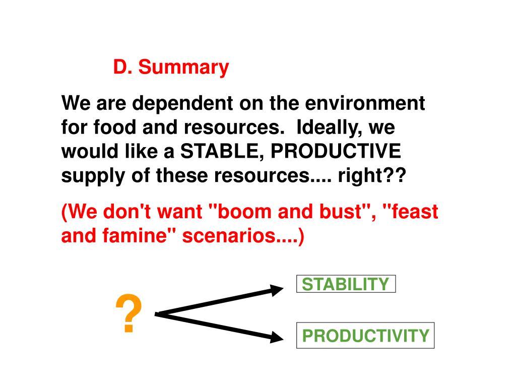 D. Summary