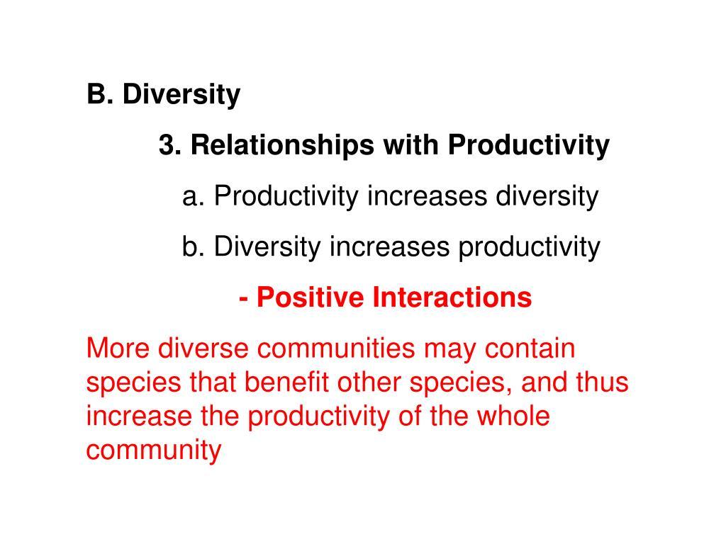 B. Diversity
