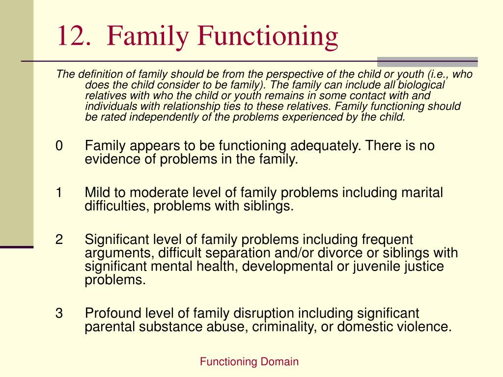 12.  Family Functioning
